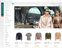 Pritchards website - Hugo Boss category page