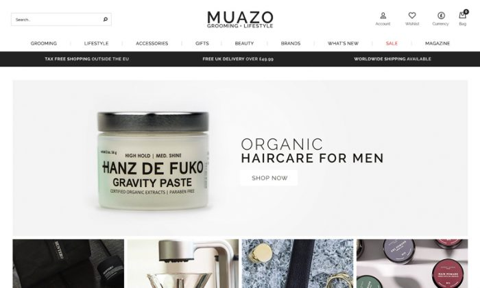 Website pomoting a haircare product